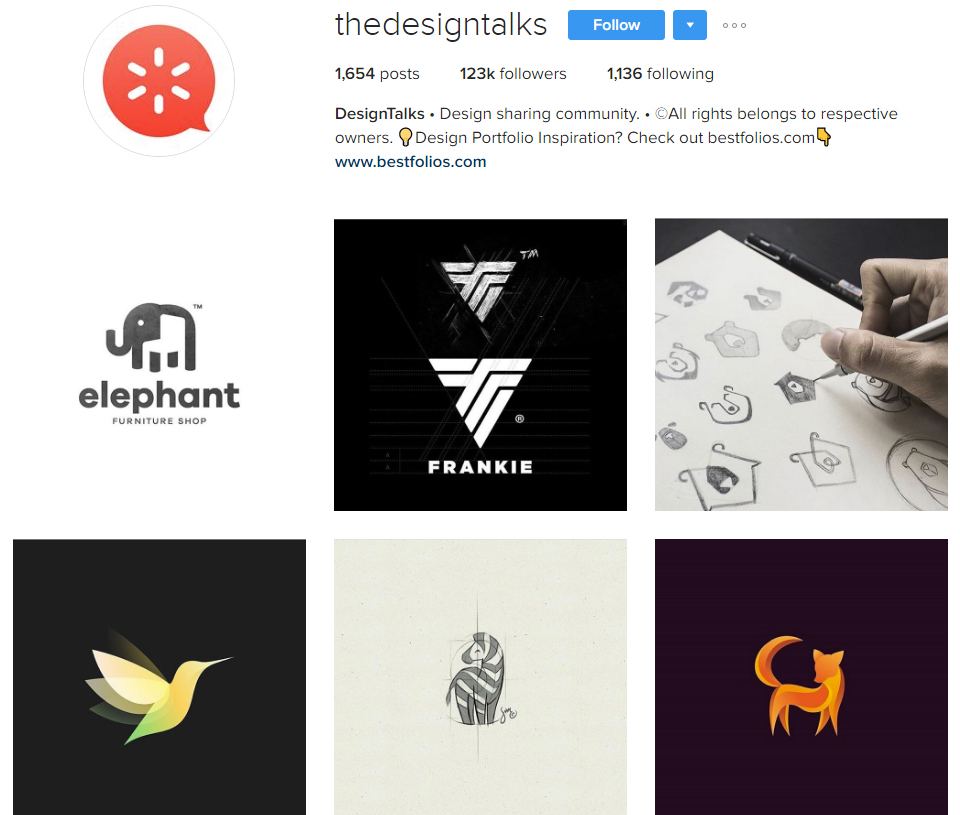 thedesigntalks instagram profile