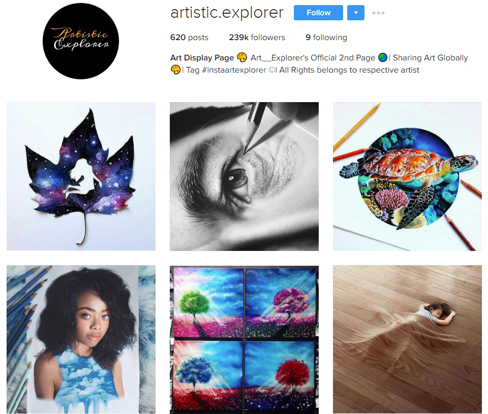 artistic-explorer instagram profile