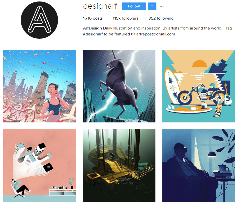 designarf instagram profile - Graphic Artist Profile
