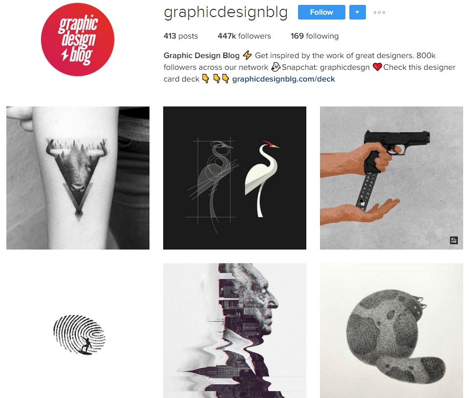 graphic design blog instagram profile - Graphic Artist Profile