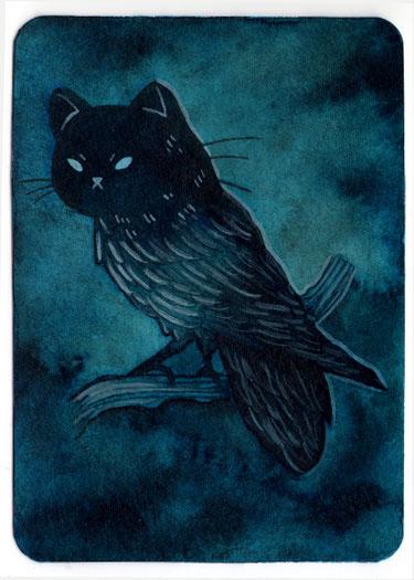 spooky cat owl