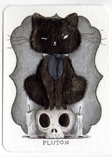 spooky cat illustration