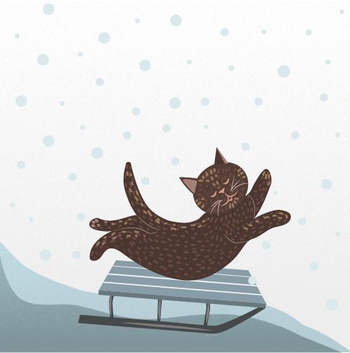 cat-on-sleigh-illustration