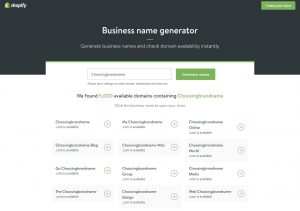 shopify one of the brand name generators