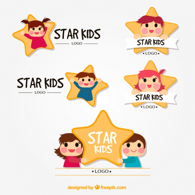 Star kid free cartoon logo templates