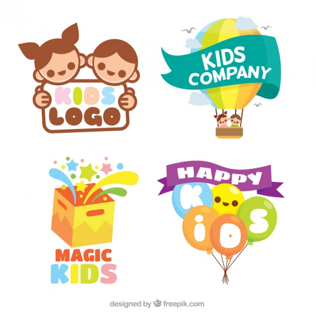 flat-pack-of-colorful-kids-logos_23-2147585980
