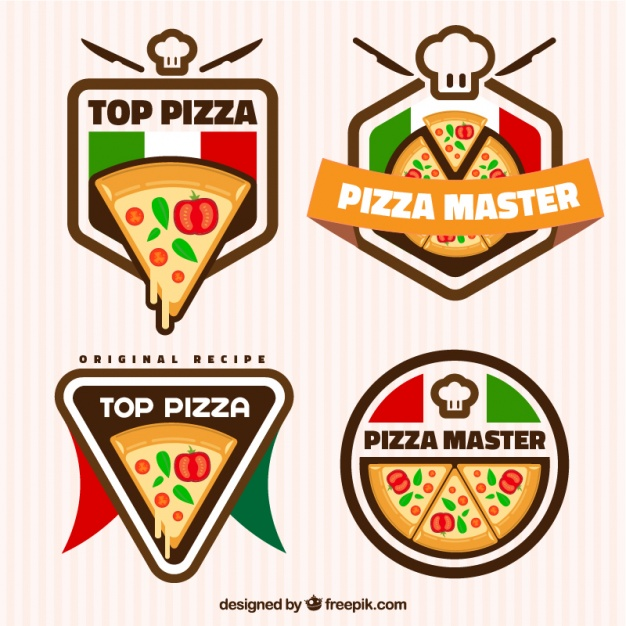 pizza- free cartoon logo templates