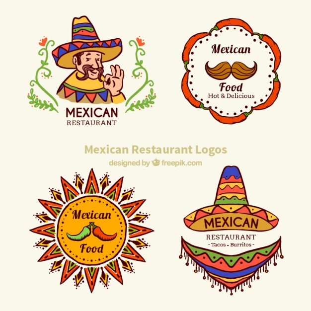 typical-mexican-food-logotypes