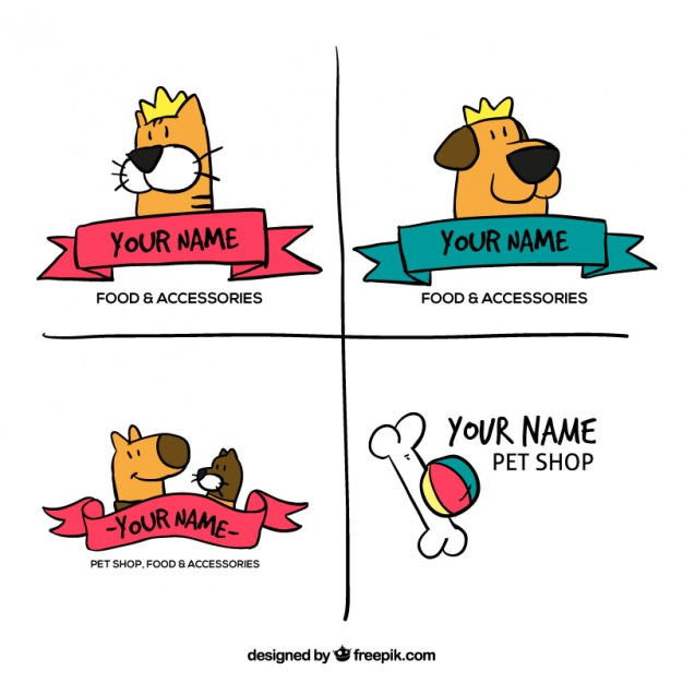 hand-drawn-logos-for-a-pet-shop