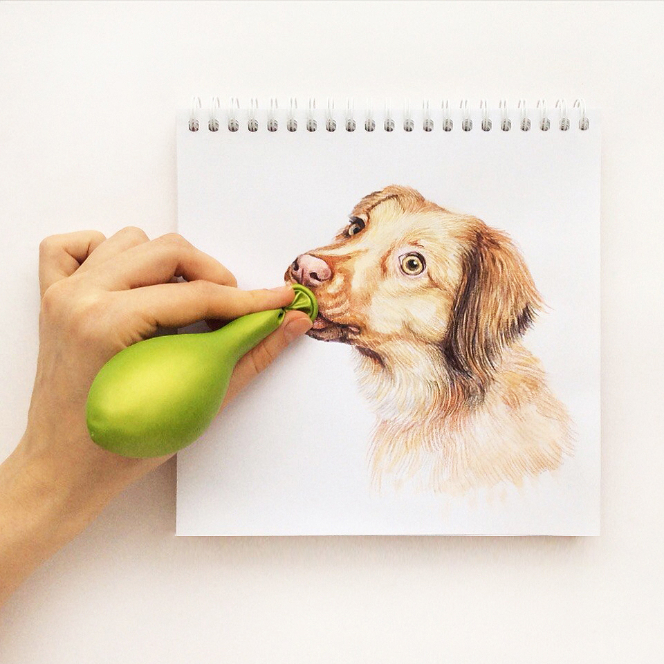 interactive dog illustration