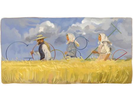Top 15 Most Artistic Google Doodle Illustrations: google-doodle-harvesters