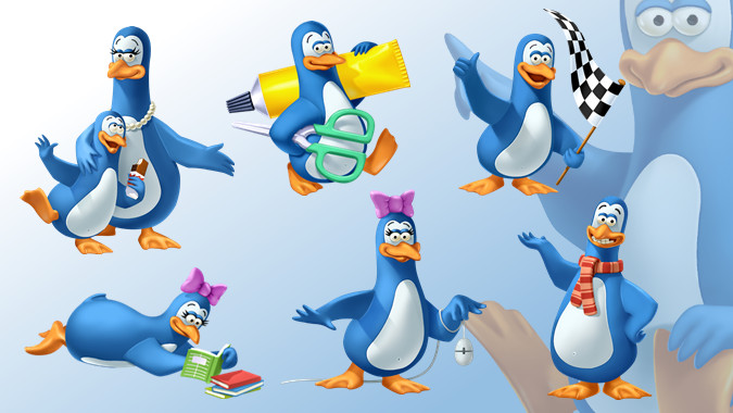 mascots in advertising pinguin character