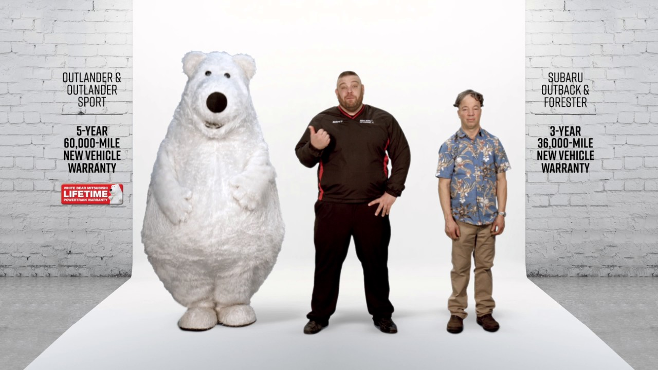 mascots in advertising subaru character bear