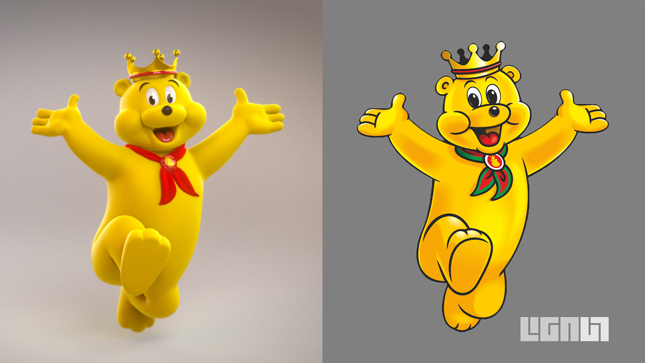 mascots in advertising pom bear character