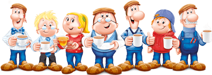 mascots in advertising teetley tea characters
