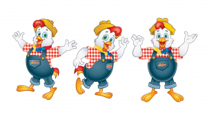 mascots in advertising rooster design
