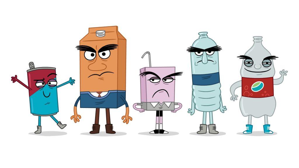cartoon characters mascots for return it canada