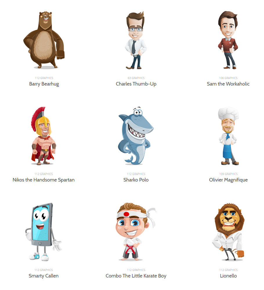 Adobe Character Animator Puppets By Graphicmama Freebies