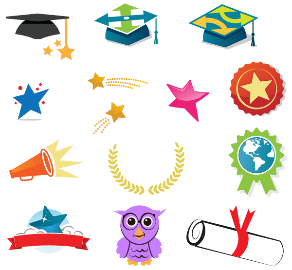 free-vector-graduation-icons