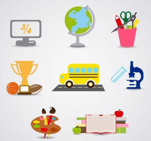 Clean-Study-Icon-Set-Vector