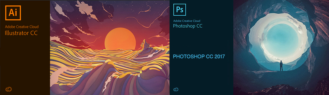 Adobe Illustrator and Adobe Photoshop