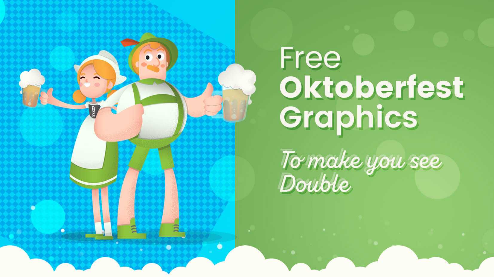 Free Oktoberfest Graphics Collection To Make You See Double