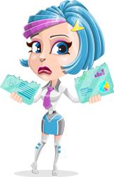 graphicmama cartoon character sad girl