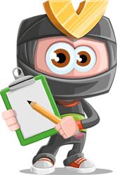 ninja cartoon character by GraphicMama