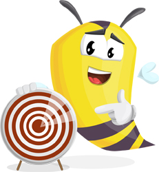bee cartoon character GraphicMama target