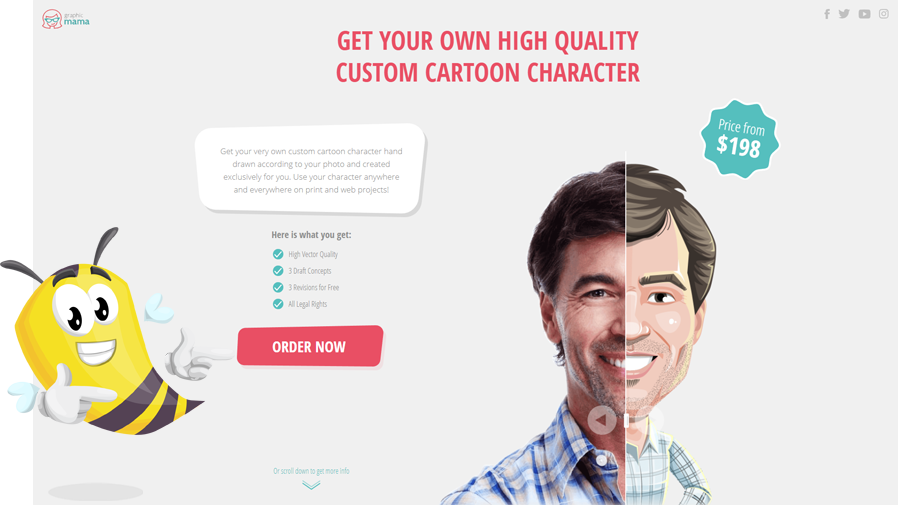 landing page design GraphicMama