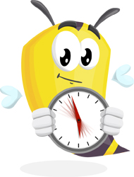 bee cartoon character by GraphicMama : time's running out