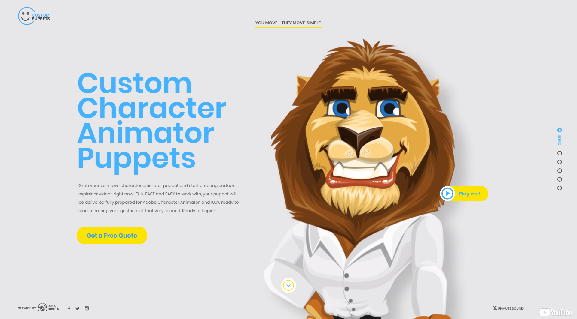 landing page examples GraphicMama