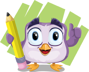 bird cartoon character by GraphicMama