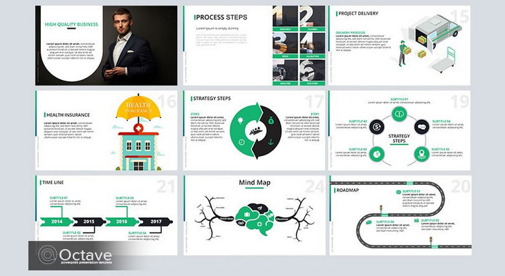 35 free infographic powerpoint templates to power your presentations, Powerpoint templates