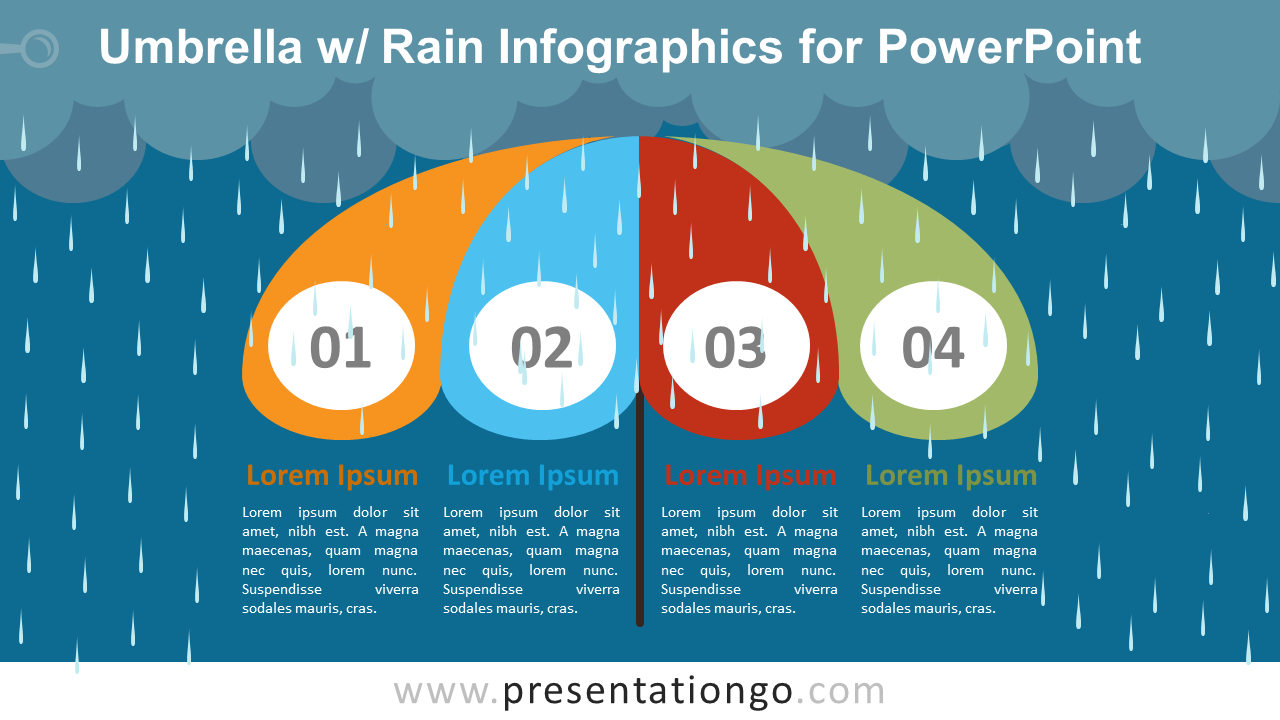 free umbrella infographics template by presentationgo