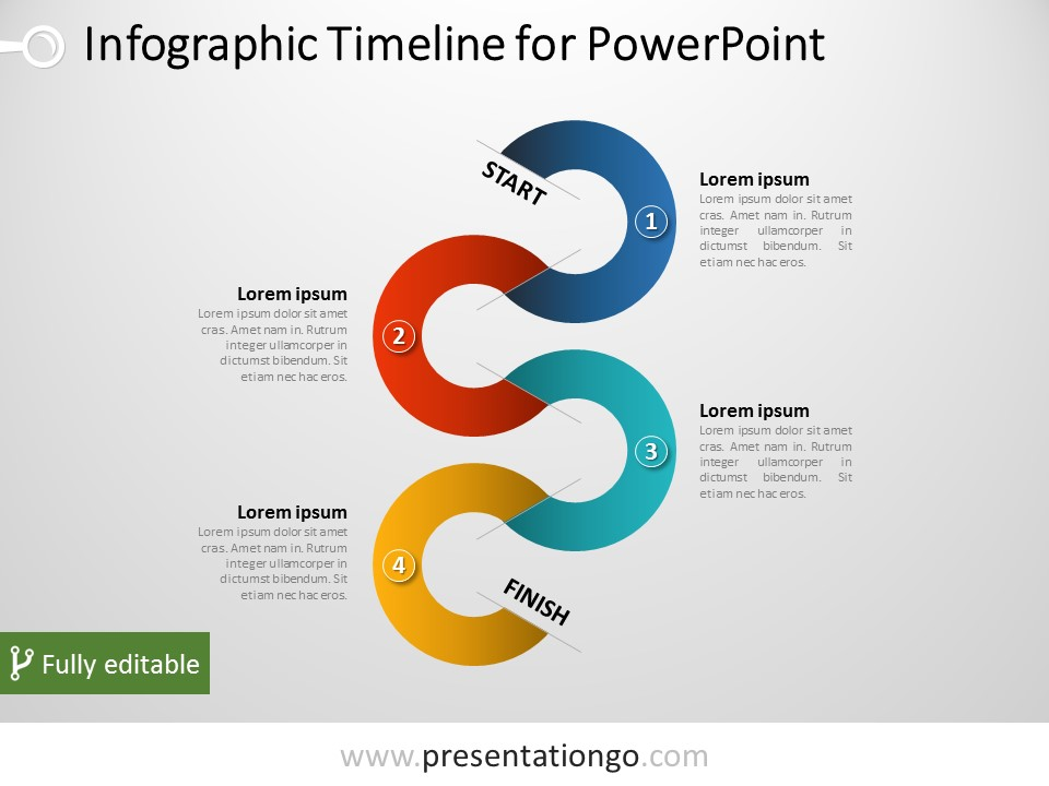 free timeline infographic powerpoint emplates by presentationgo download