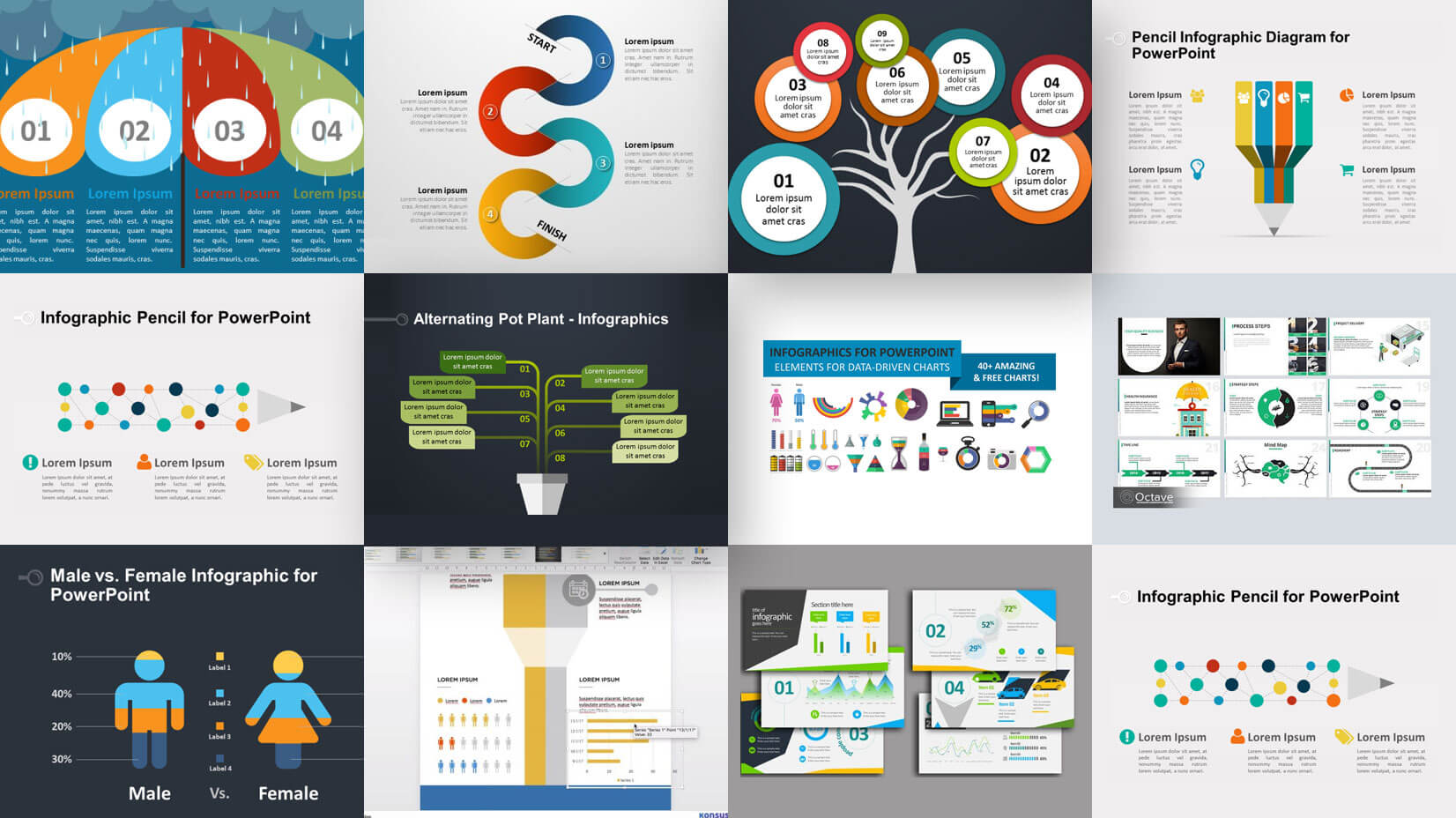 Amazing Free Infographic PowerPoint Presentation Templates