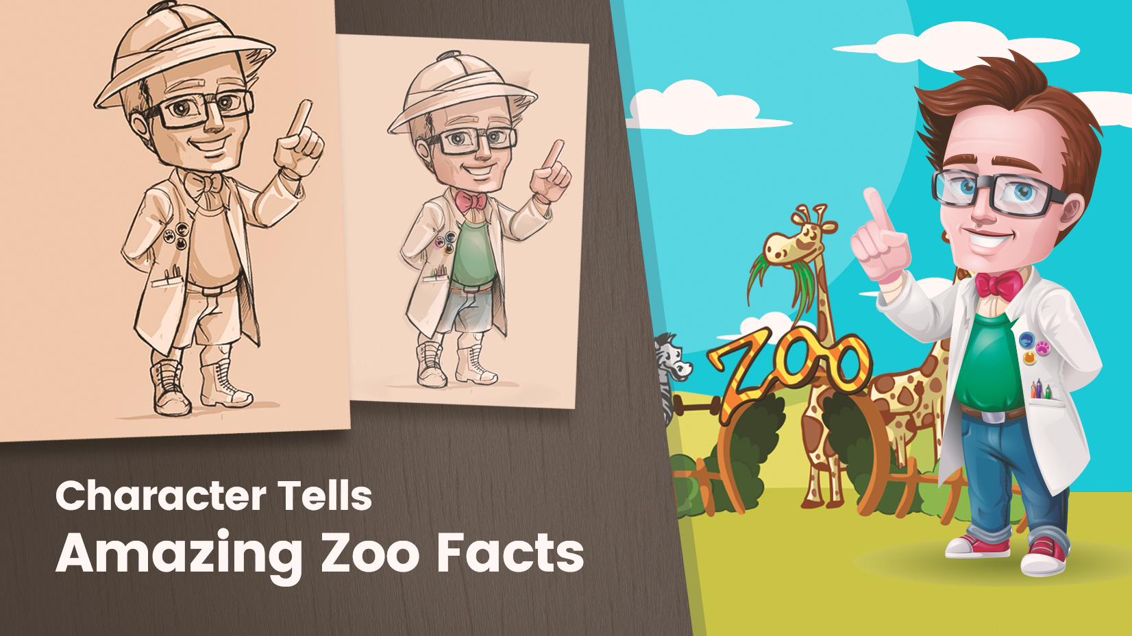 GraphicMama's work - Case study Zoo facts