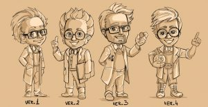 First sketches of the professor