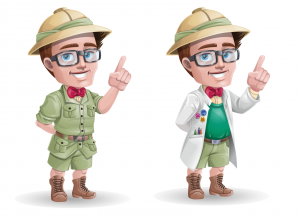 Safari outfit for the professor character