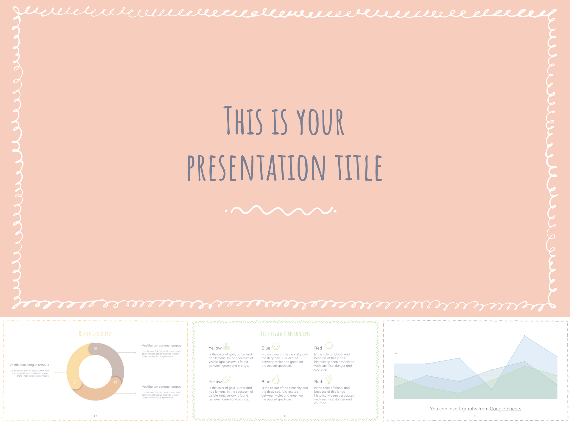 Google Slides Template in Pastel Color Scheme