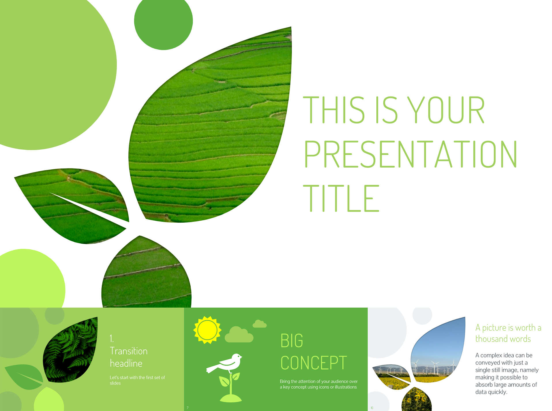 Nature Inspired Free Google Slides Templates