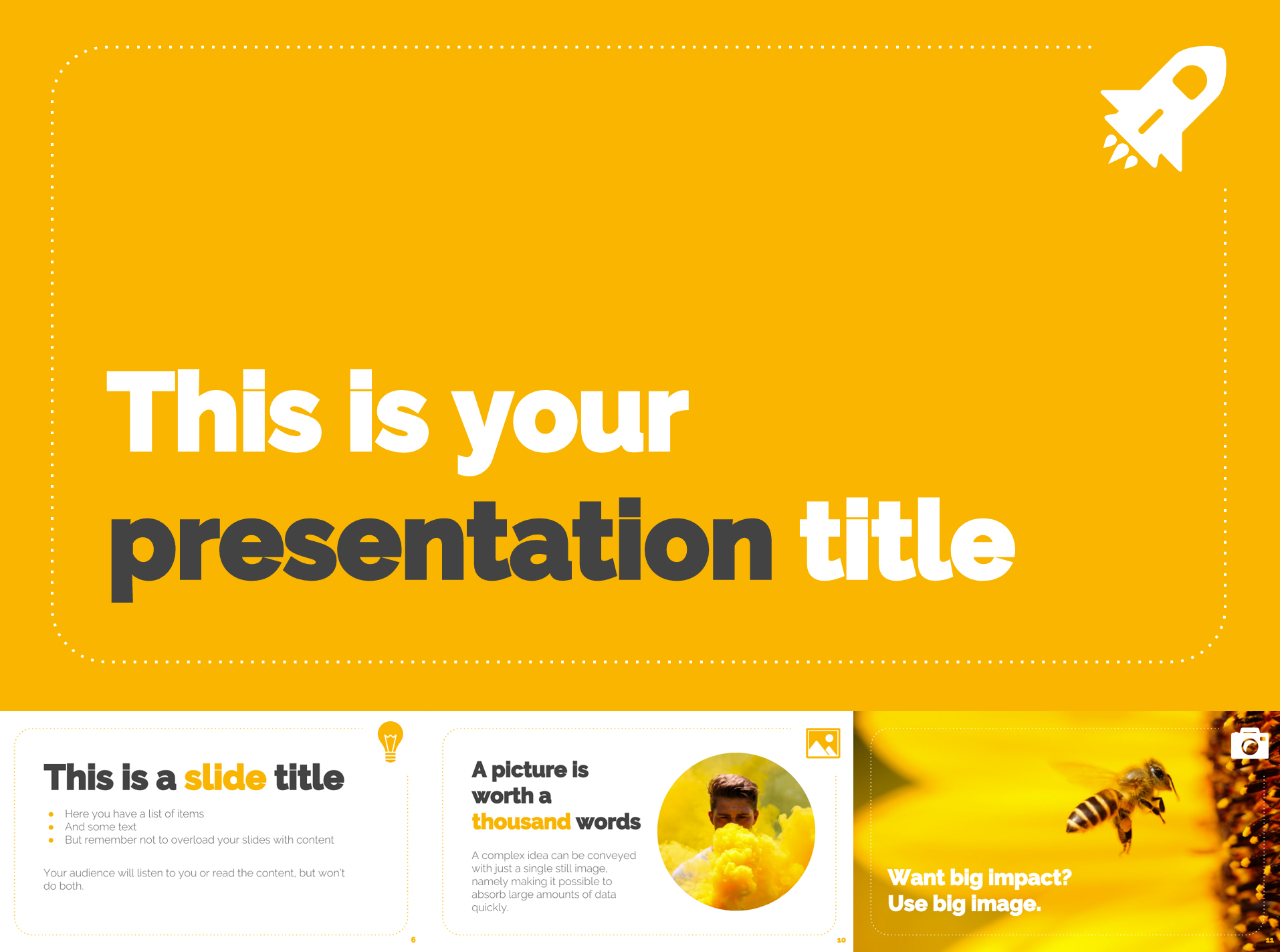 bright yellow free google slides templates