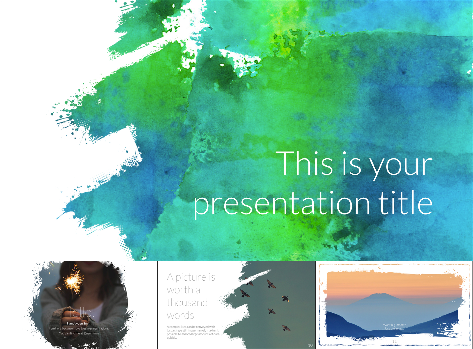 Free Artsy Google Slide Templates Theme