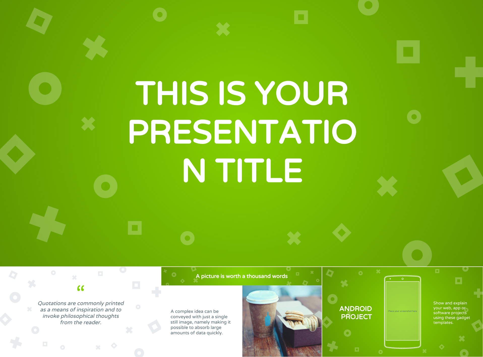 Lively Green Google Slides Presentation Template