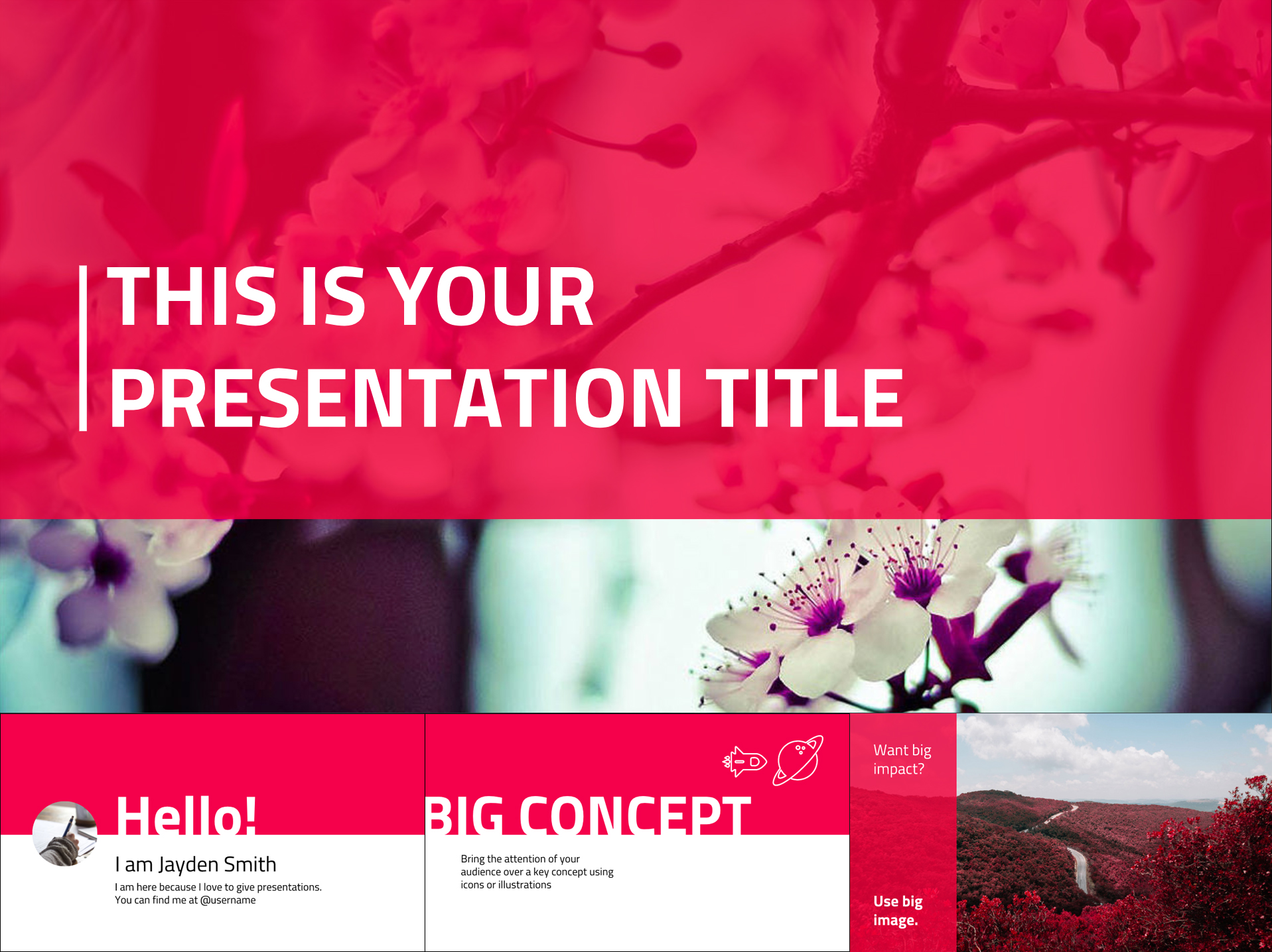 Brand Color Google Slides Presentation Design