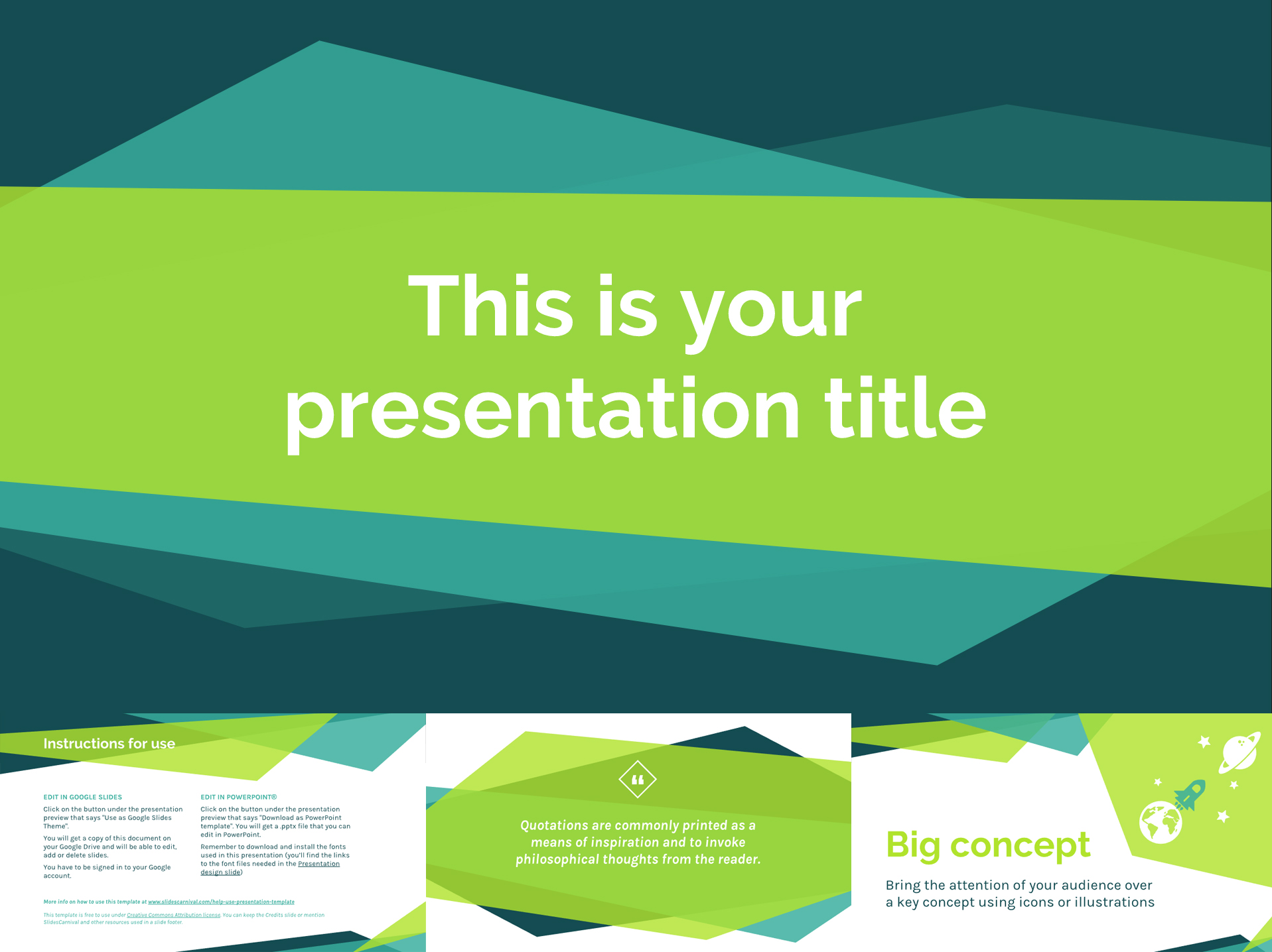 30 free google slides templates for your next presentation free google slides templates in fresh colors toneelgroepblik Gallery