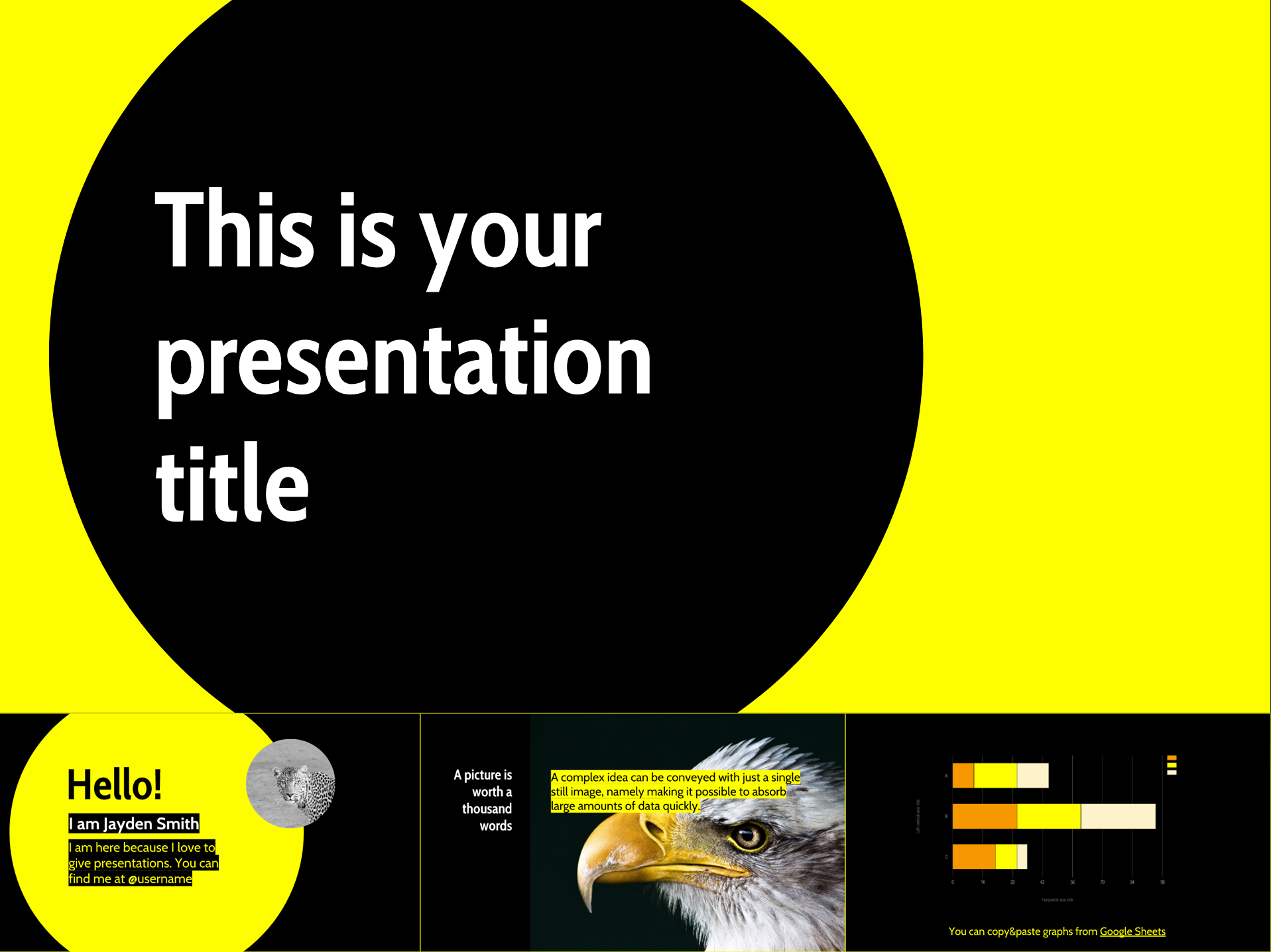 Bright Yellow Free Google Slides Templates Design