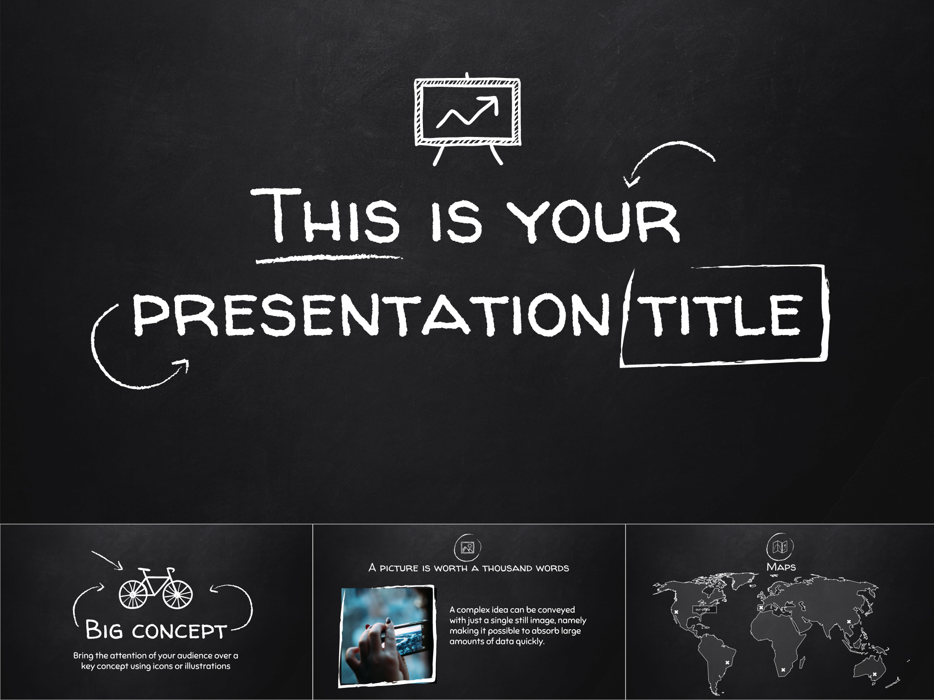 Old School Blackboard Free Template for Google Slides