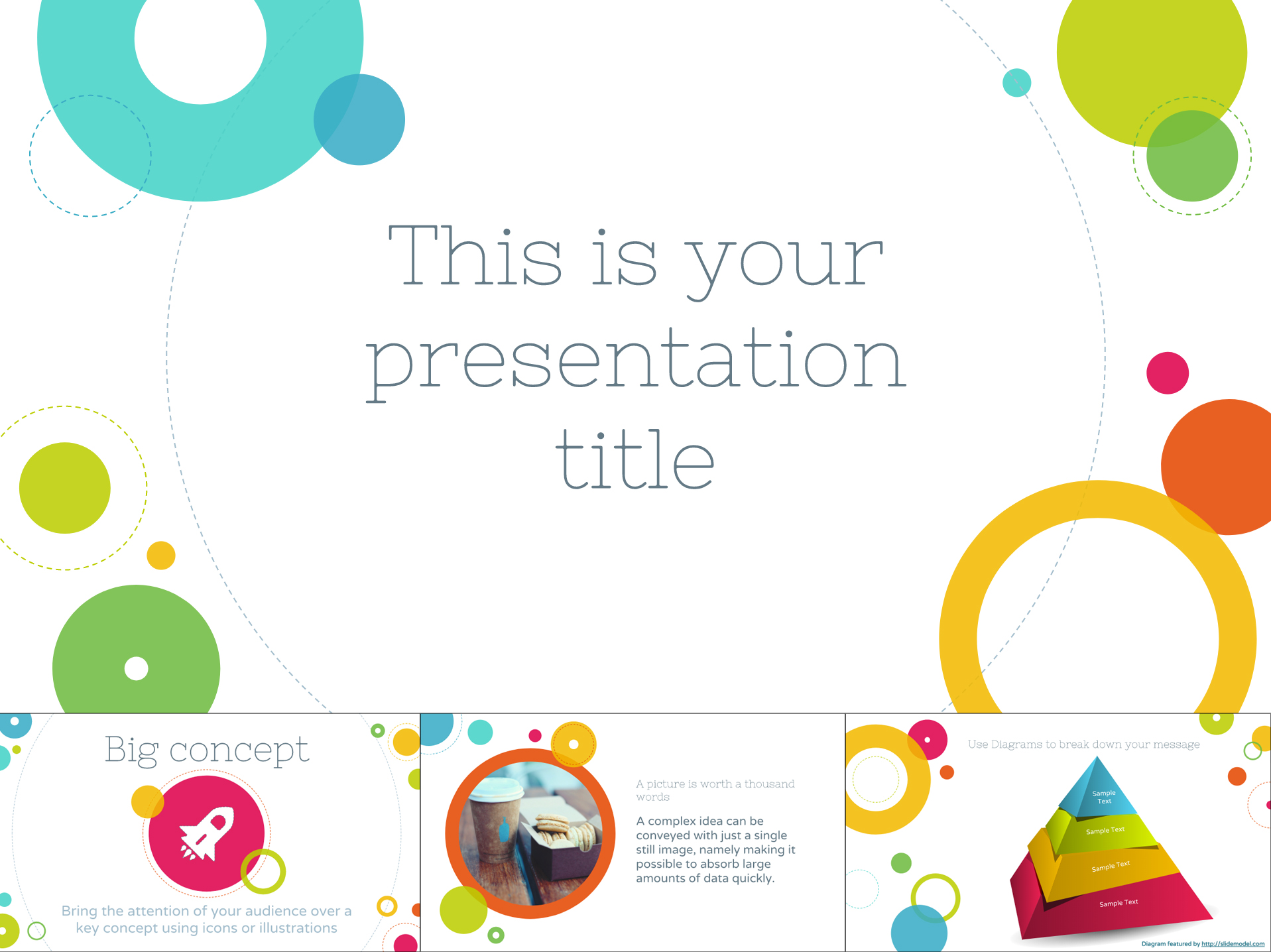 Cheerful Free Google Slides Template With Colorful Circles